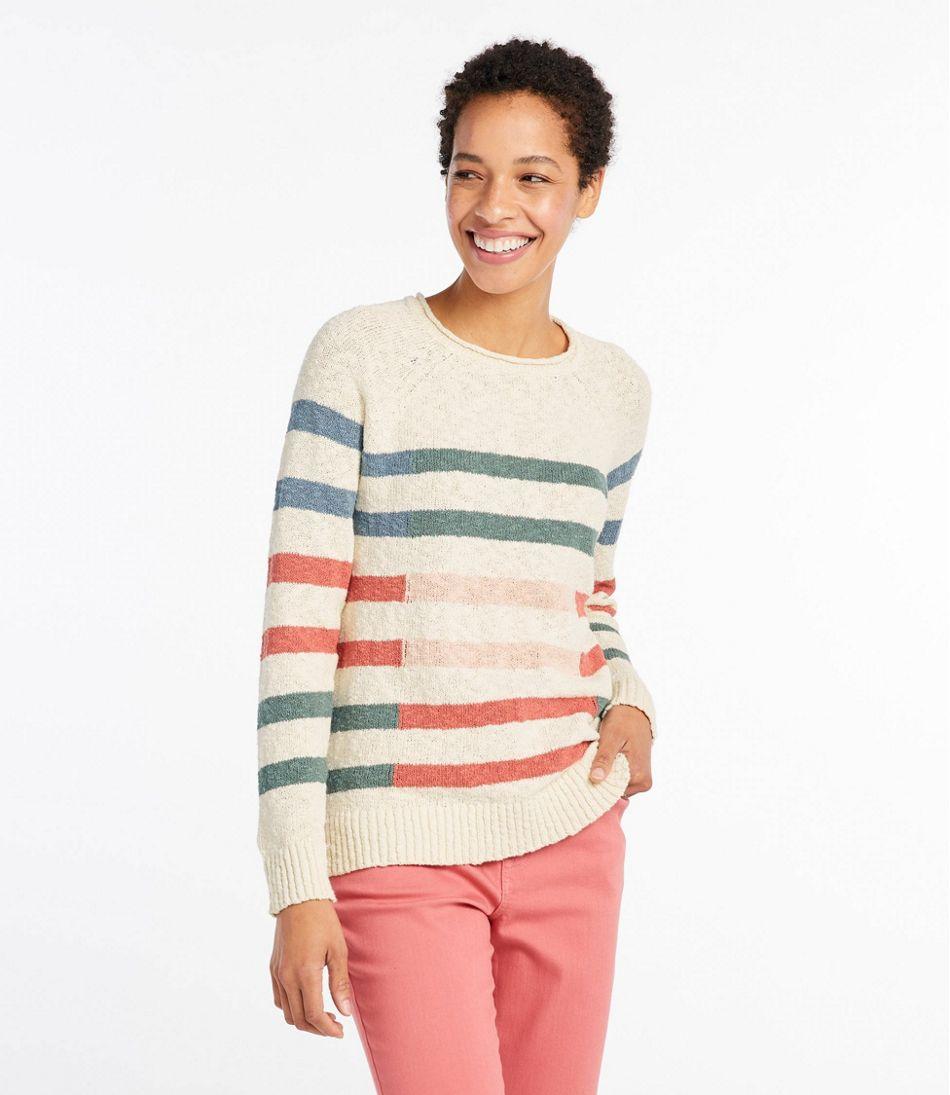 Women's Midweight Cotton Slub Rollneck Pullover Stripe