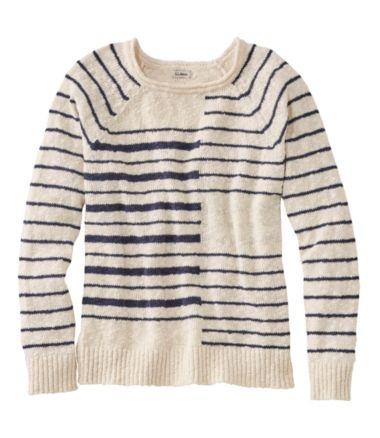 Midweight Cotton Slub Rollneck Pullover Stripe Misses Regular
