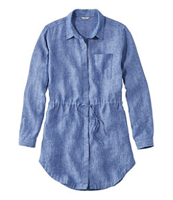 Women's Premium Washable Linen Drawstring Tunic