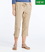 Stretch Ripstop Pull-On Capri Pants