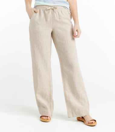 Premium Washable Linen Pull-On Pants