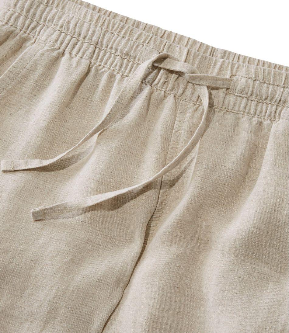 Women's Premium Washable Linen Pull-On Pants