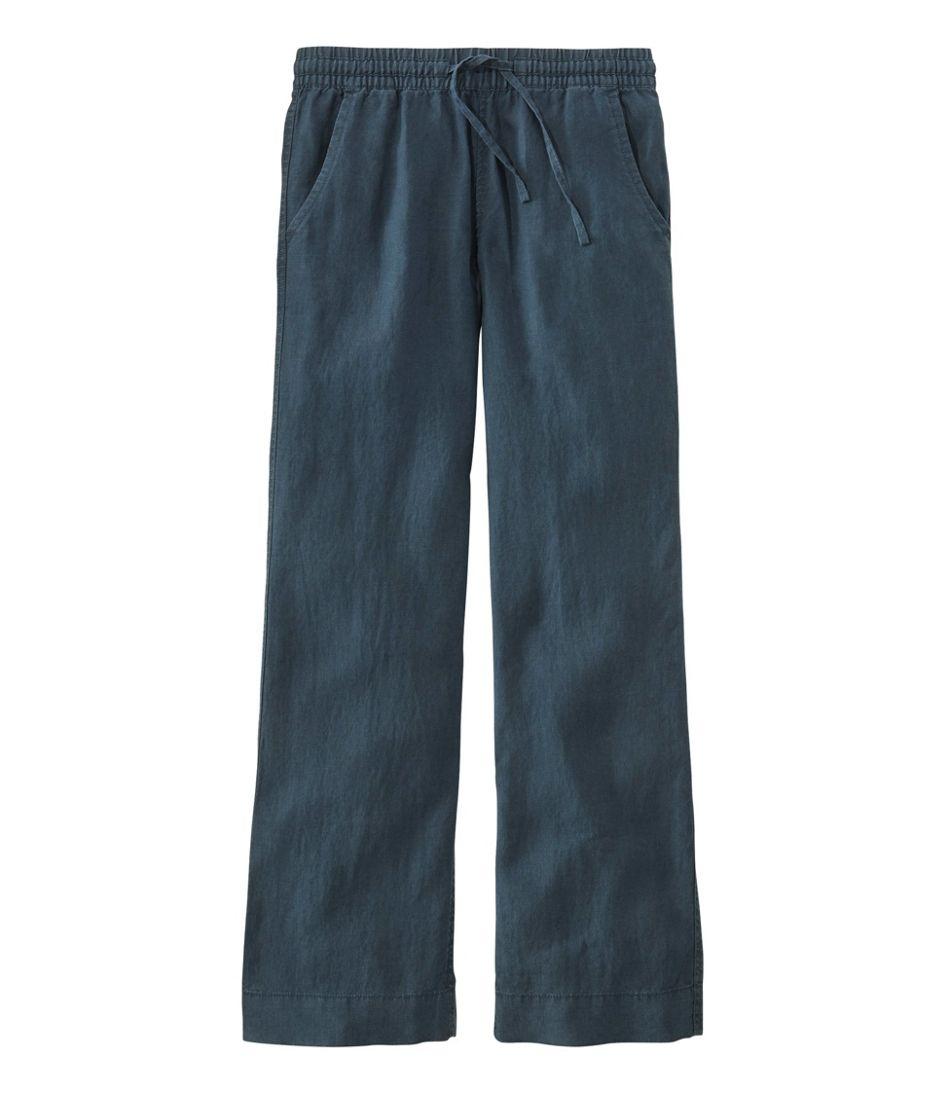 Premium Washable Linen Pull-On Pants