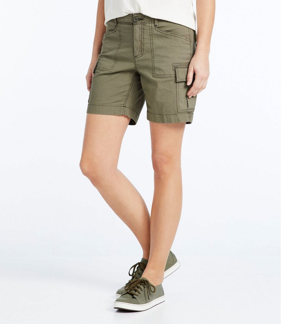 Women's Stretch Canvas Cargo Shorts