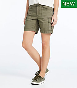 Stretch Canvas Cargo Shorts