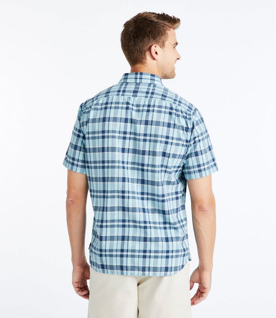 Lakewashed® Organic Cotton Camp Shirt, Short-Sleeve, Plaid