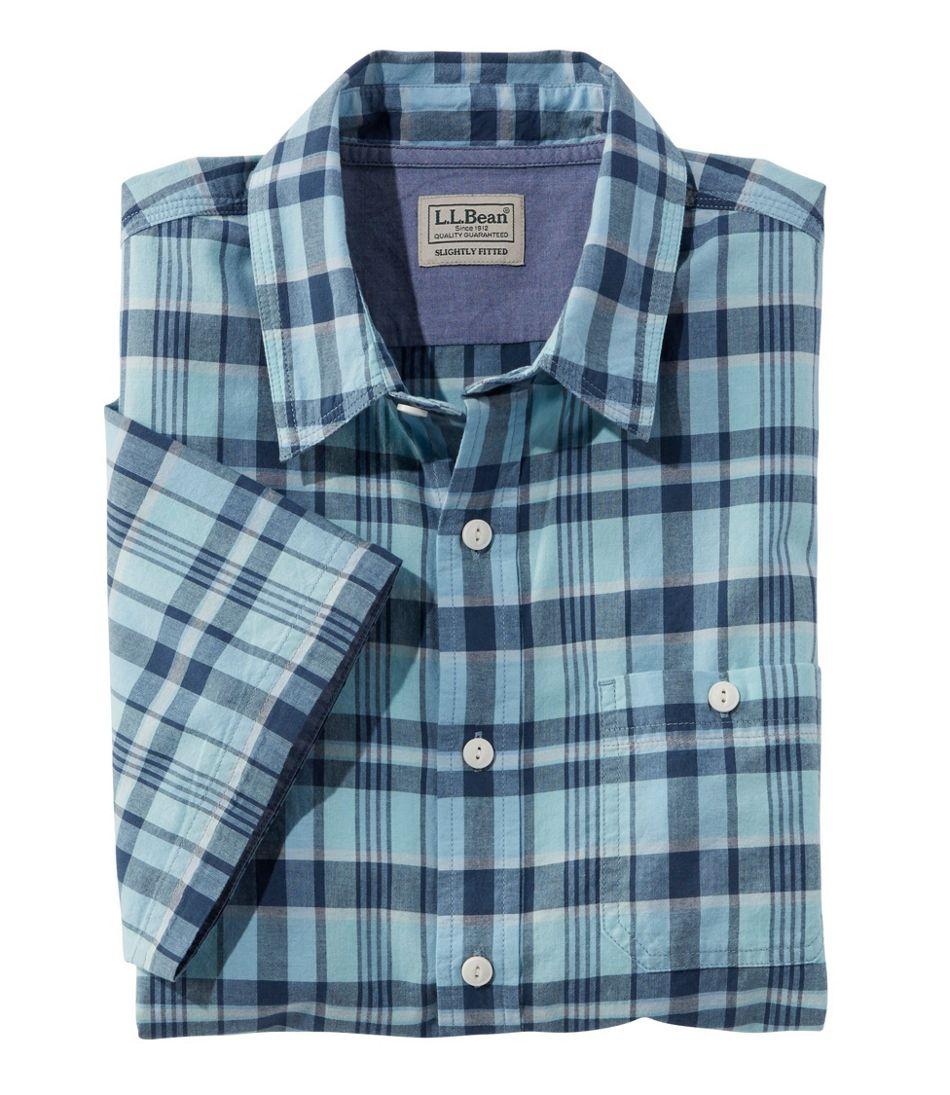 Lakewashed® Organic Cotton Camp Shirt, Short-Sleeve, Plaid