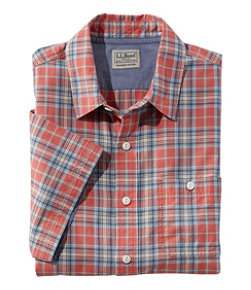 Lakewashed Organic Cotton Camp Shirt, Short-Sleeve, Plaid
