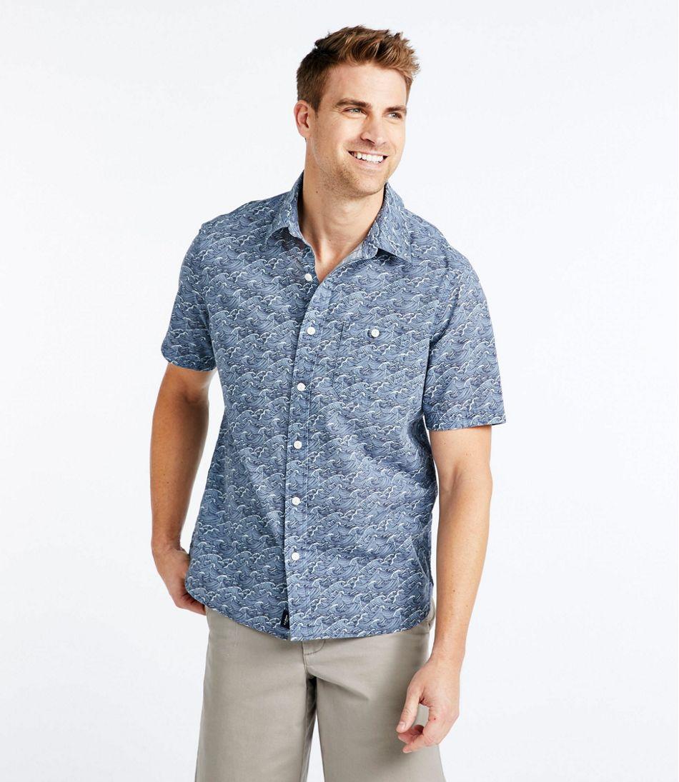 Lakewashed® Organic Cotton Camp Shirt, Short-Sleeve, Print