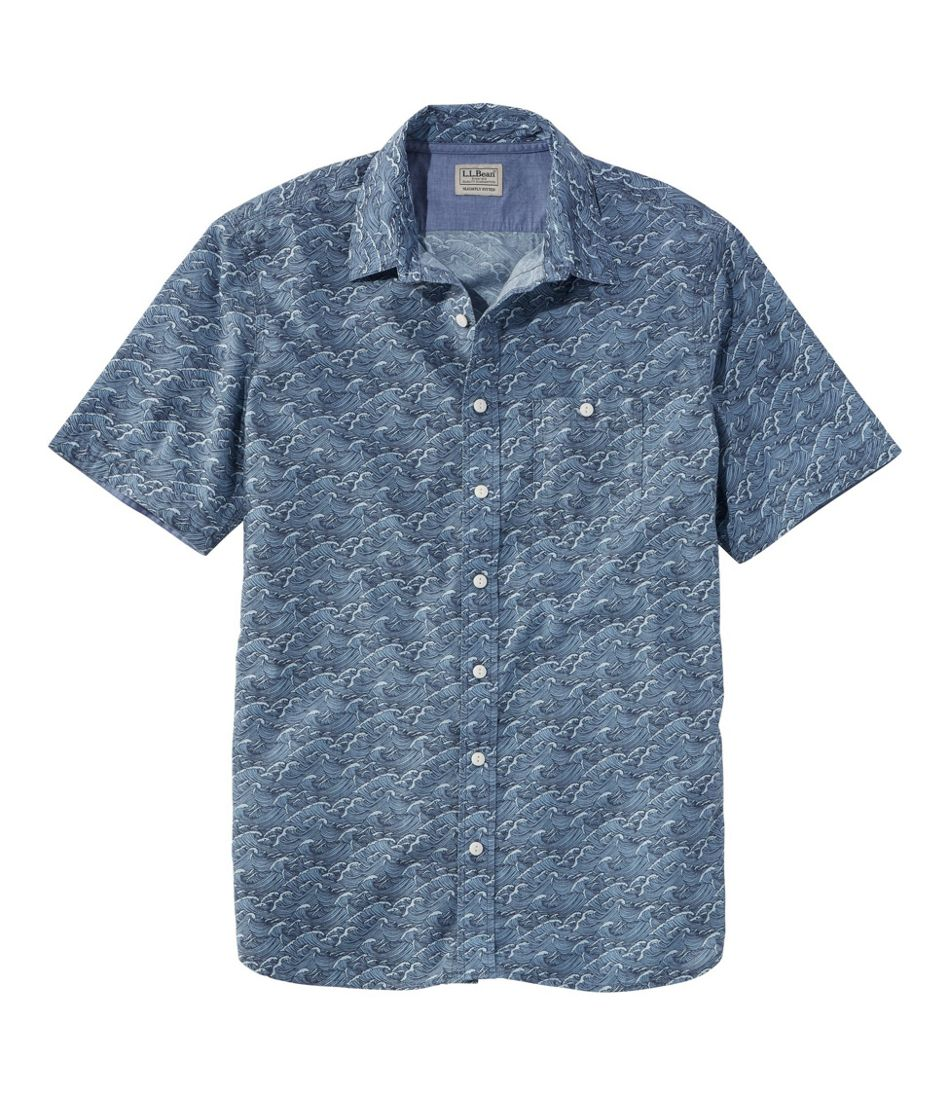 Lakewashed® Organic Cotton Camp Shirt, Short-Sleeve, Print