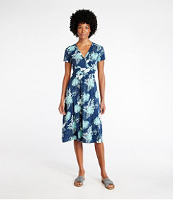 Women's Summer Knit Dress, Short-Sleeve Print