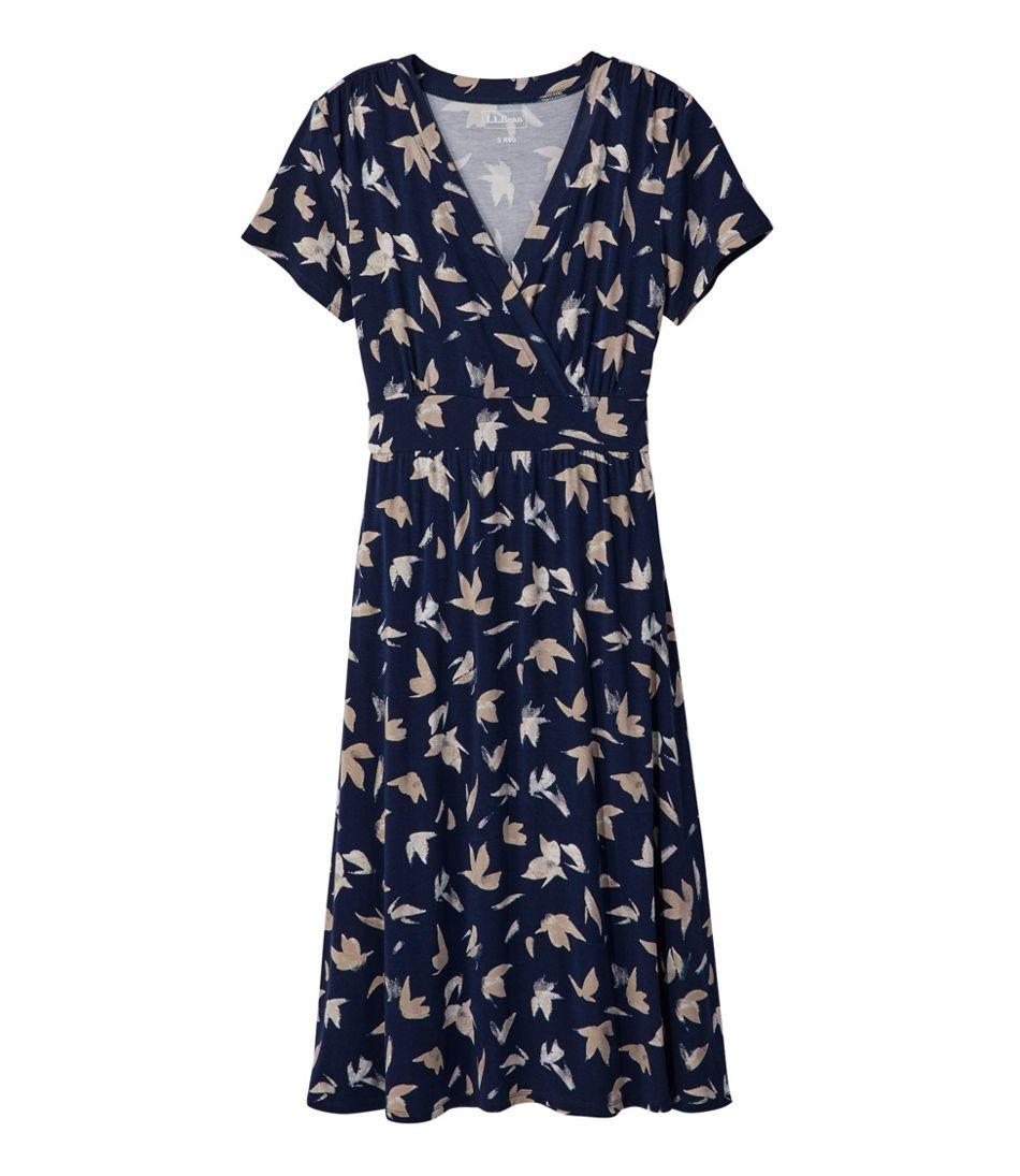 Summer Knit Dress, Short-Sleeve Print