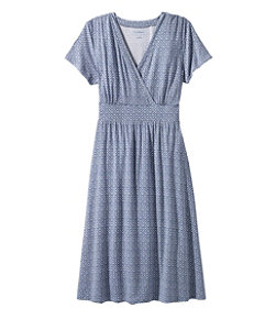 Summer Knit Dress, Short-Sleeve Print
