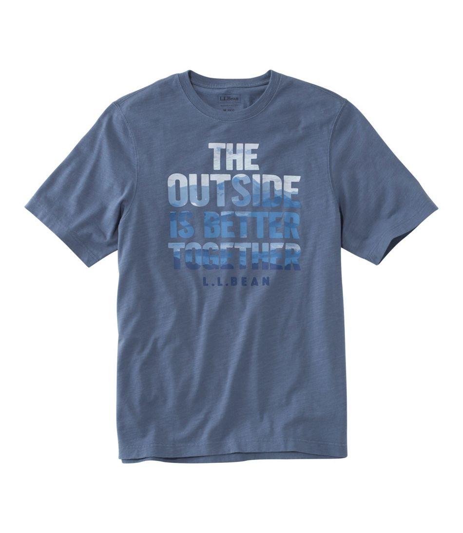 Men's Lakewashed® Organic Cotton Graphic Tee, Short-Sleeve