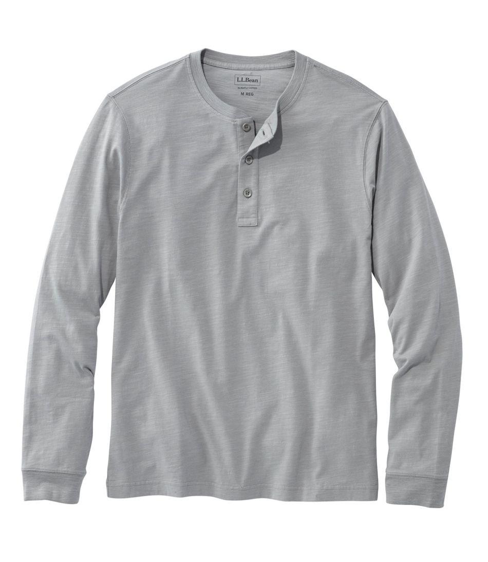 Lakewashed® Organic Cotton Shirt, Long-Sleeve Henley