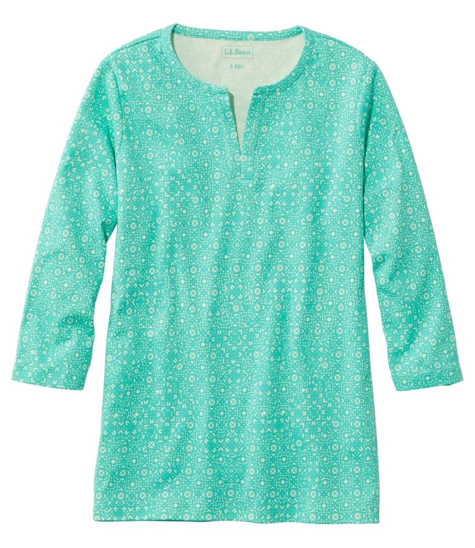Women's L.L.Bean Tee, Three-Quarter-Sleeve Splitneck Tunic Print