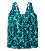 Women's Slimming Swimwear, Blouson Tankini Top Print