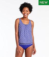 9fcd1ed947032 Slimming Swimwear, Blouson Tankini Top Print