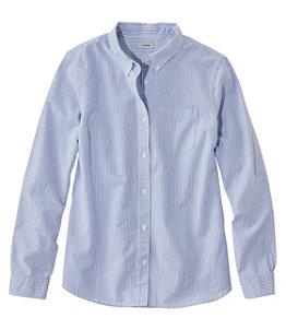 Women's Lakewashed Organic Cotton Oxford Shirt, Stripe