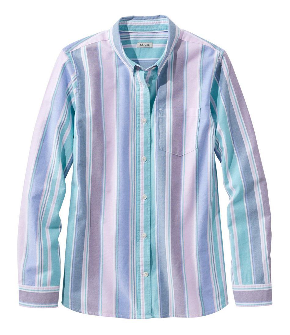 Women's Lakewashed® Organic Cotton Oxford Shirt, Stripe