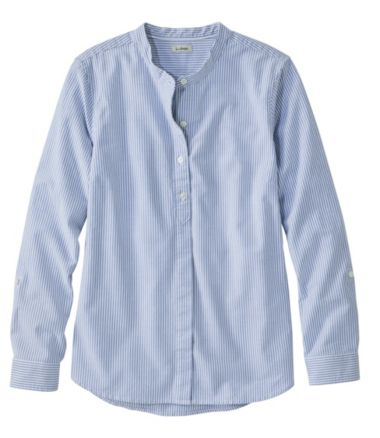 Lakewashed Organic Cotton Oxford Shirt, Roll Tab Stripe
