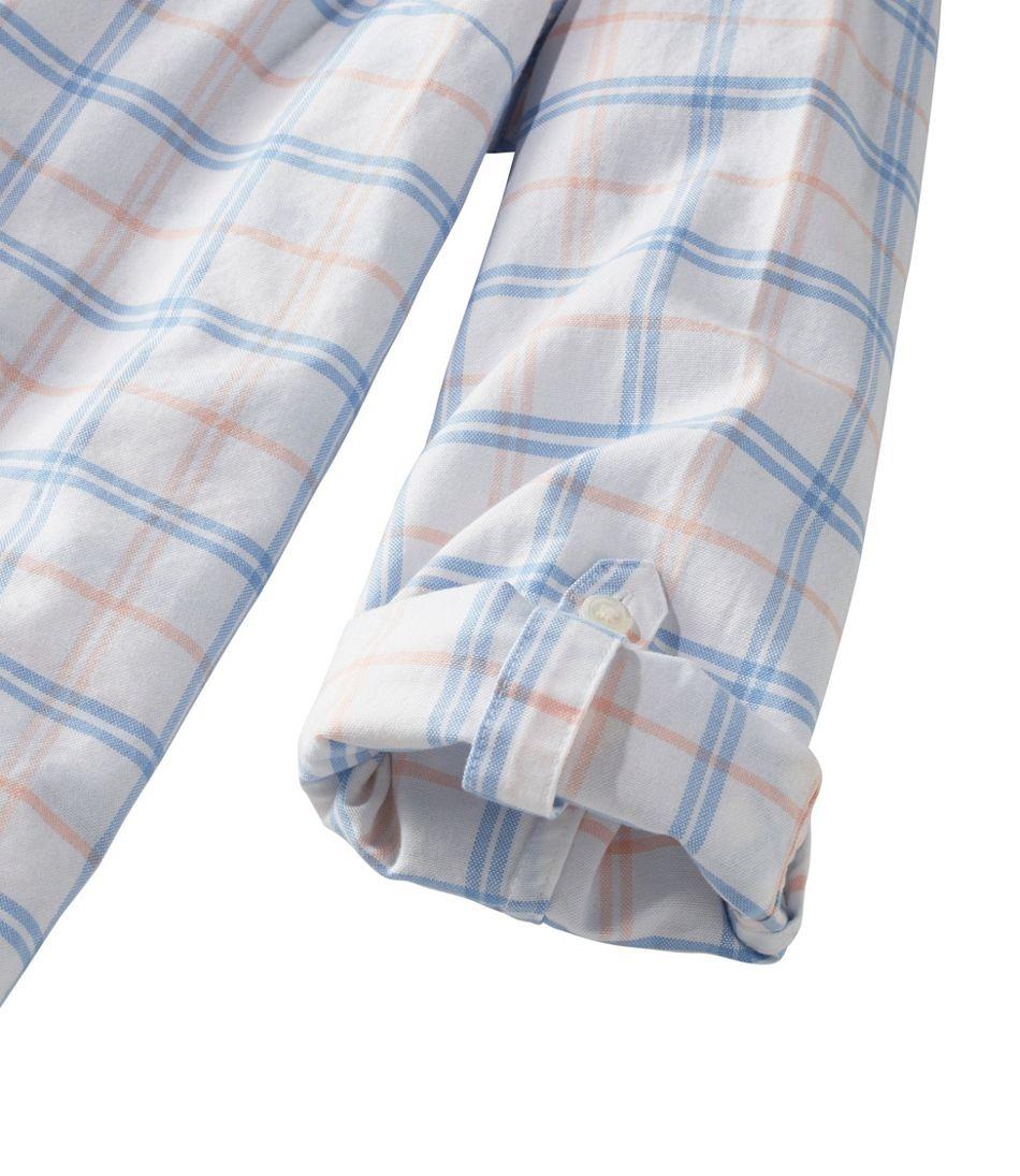 Lakewashed® Organic Cotton Oxford Shirt, Roll Tab Plaid