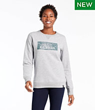 Women's Bean's Cozy Crewneck Sweatshirt, Logo