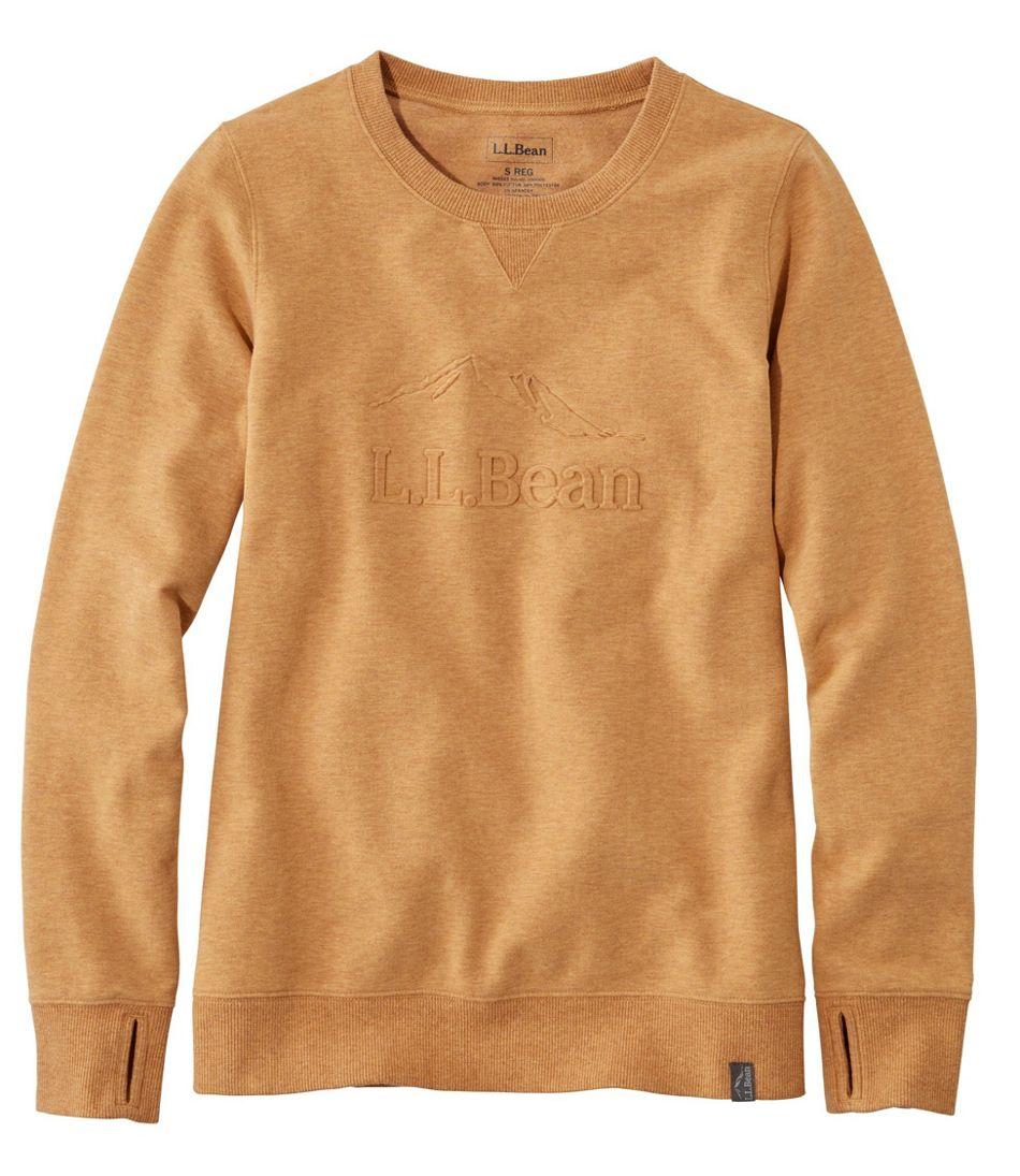 Women's Bean's Cozy Crewneck Sweatshirt, Logo