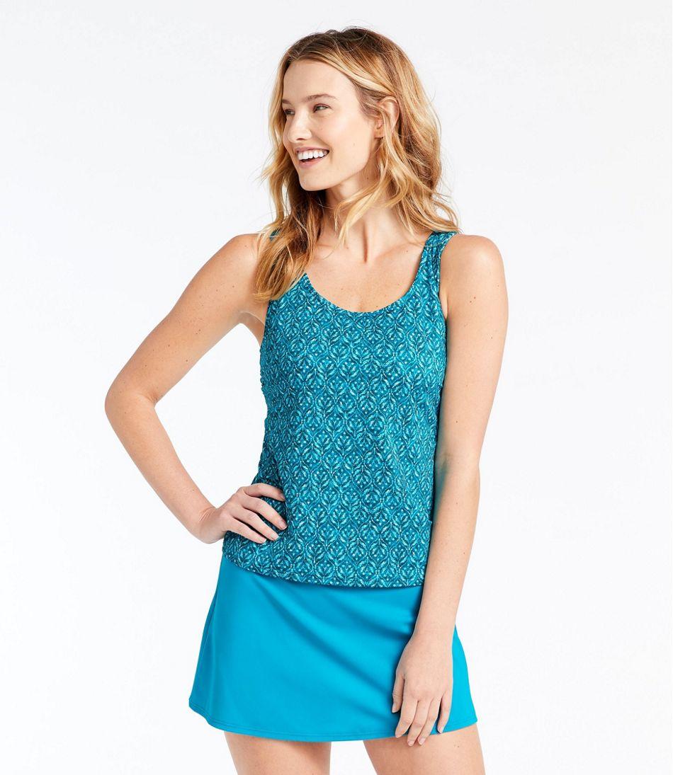 BeanSport® Swimwear, Tankini Top Scoopneck Geo Leaf