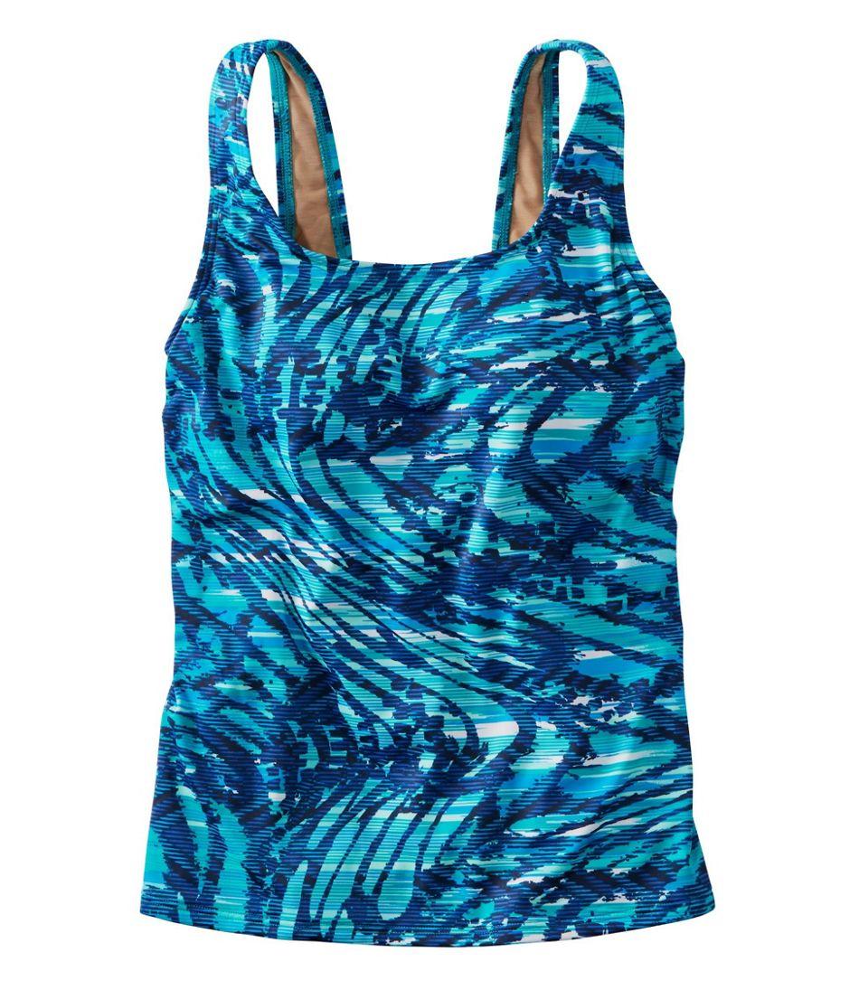 BeanSport® Swimwear, Tankini Top Scoopneck Wave Print