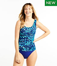 BeanSport® Swimwear, Tankini Top Scoopneck Wave Print