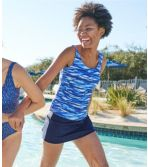 Women's BeanSport® Swimwear, Tankini Top Scoopneck, Painted Wave Print