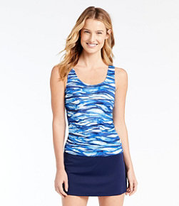 BeanSport® Swimwear, Tankini Top Scoopneck, Painted Wave Print