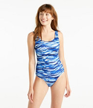 BeanSport® Swimwear, Tank with Soft Cups, Painted Wave Print