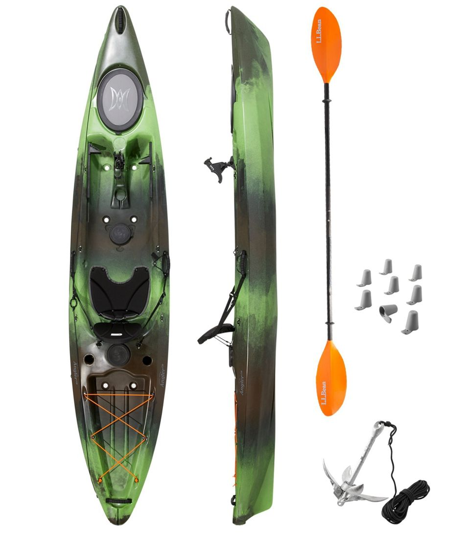 L.L.Bean Angler Sit-On-Top Kayak Package, 12'