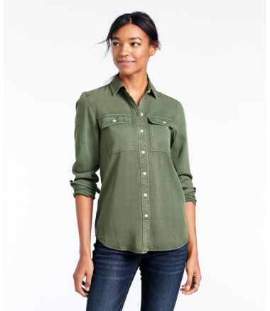 Women's Signature Utility Shirt, Garment-Dyed