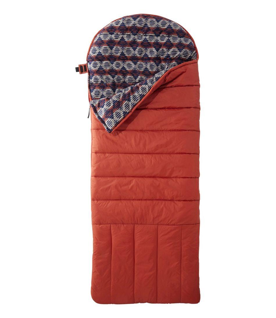 Kid's Deluxe Fleece-Lined Camp Bag 30°, Geo Print