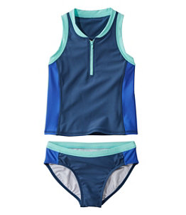 Girls' Watersports Swimsuit Two-Piece, Colorblock