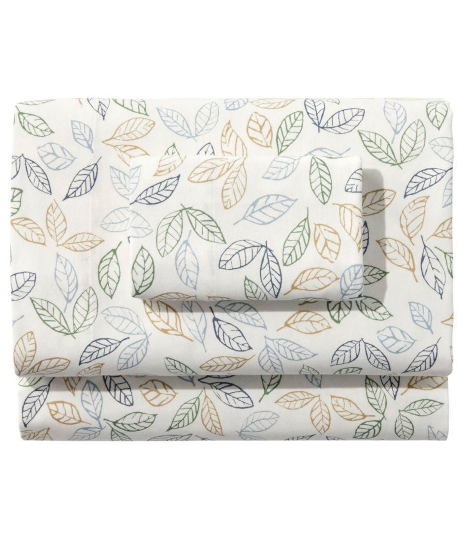 Tossed Leaves Flannel Sheet Collection