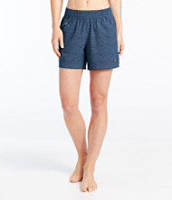 L.L.Bean Stretch Board Shorts, Pull-on Print 5""