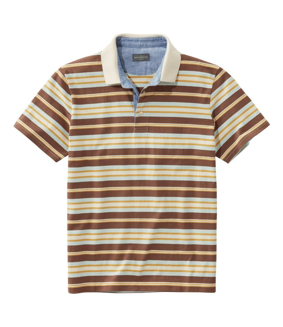 Men's Signature Polo Shirt, Short-Sleeve, Stripe