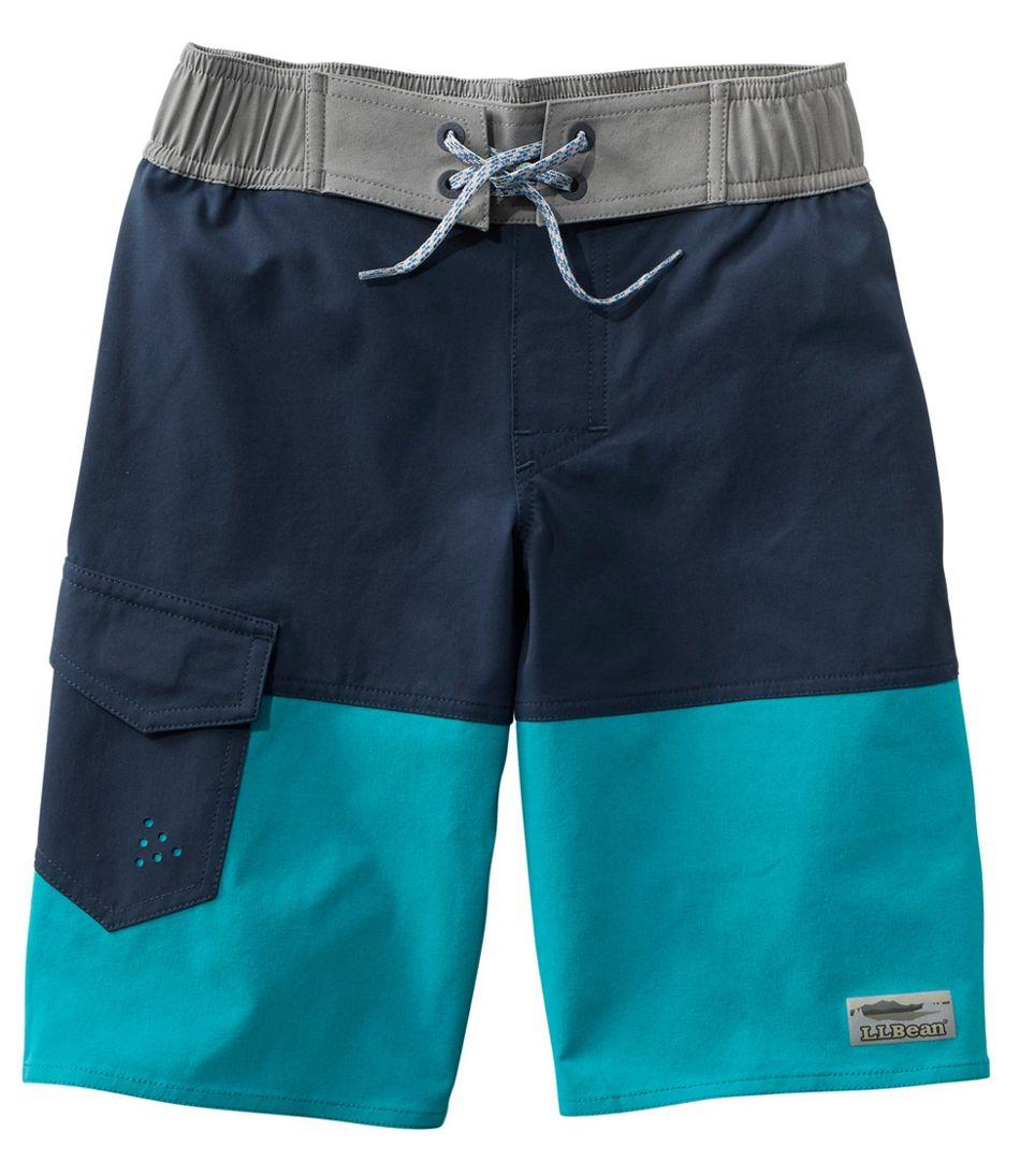 Boys' Traverse Stretch Swim Shorts, Colorblock
