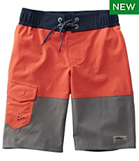 Boys' Traverse Stretch Swim Shorts, Colorblock