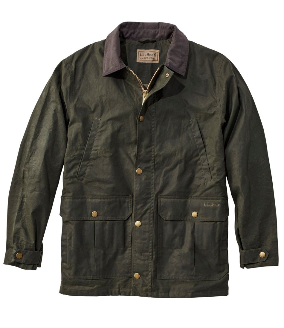 Men's Double L Waxed-Cotton Upland Coat