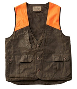 Men's Double L Waxed-Cotton Upland Vest, Hunter Orange