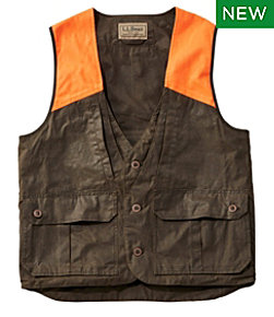 Double L Waxed-Cotton Upland Vest, Hunter Orange