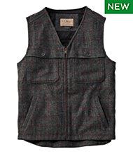 Maine Guide Zip-Front Wool Vest, Plaid
