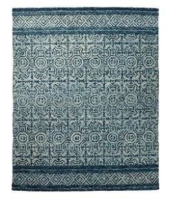 Mosaic Wool Tufted Rug, Chambray