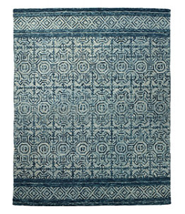 Mosaic Wool Tufted Rug, Chambray