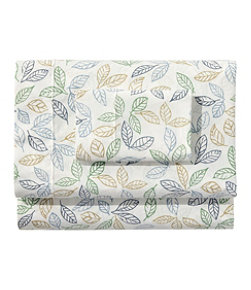 Tossed Leaves Percale Sheet Collection